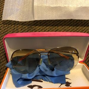 Kate Spade Brown Aviator Sunglasses
